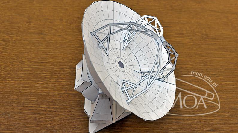 Model anteny radioteleskopu